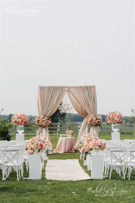 Backyard Wedding Ceremony Decoration Ideas 12 Gorgeous Wedding Ceremony Decor Ideas The Magazine