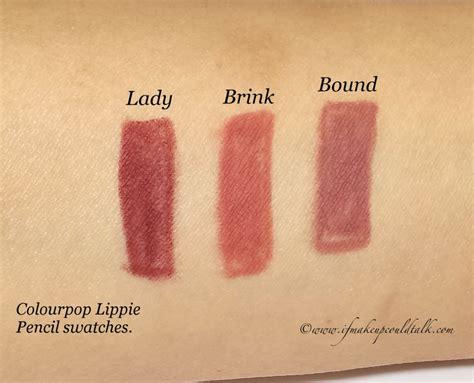 Colourpop Lippie Pencil Bound colourpop lippie pencils review and swatches if makeup