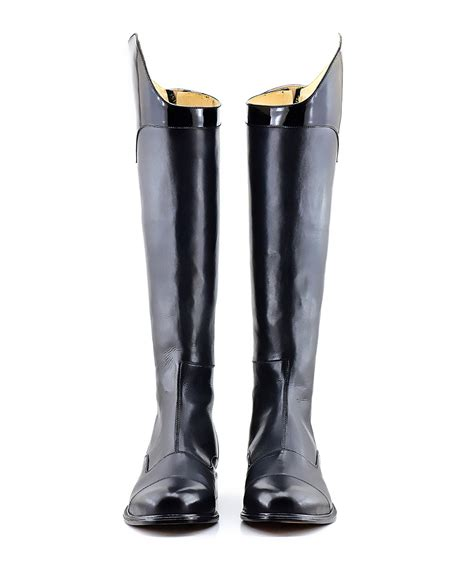 Shoes Mux 1 mux leather equestrian dressage boot with patent top uk 5 12 ebay