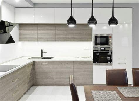 cuisine bois plan de travail blanc plan de travail cuisine 50 id 233 es de mat 233 riaux et couleurs