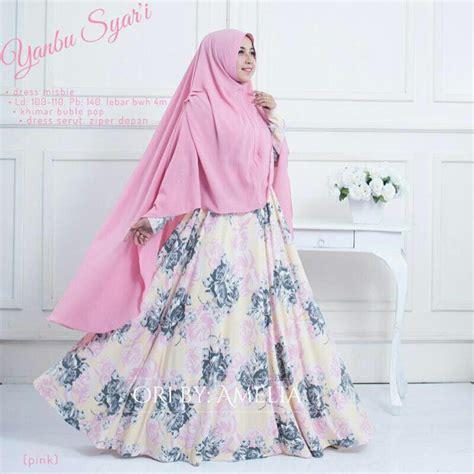 Jual Baju Muslim Gamis Pesta Syari jual gamis syari modern setelan baju pesta wanita muslim bunga yanbu di lapak sanisa collection