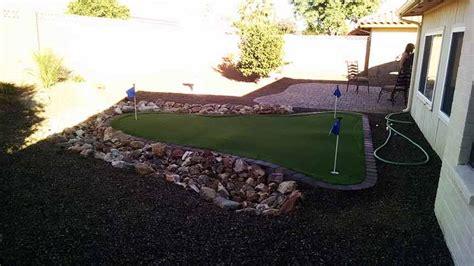 small backyard putting green arizona backyard ideas archives arizona living landscape