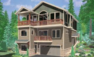 house plans for sloping lots level three narrow lot small wide