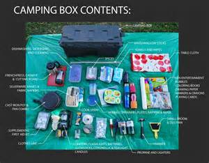 camping gear box