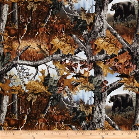 Realtree Quilt Fabric by Realtree Woods Deer In Camo Multi Discount Designer
