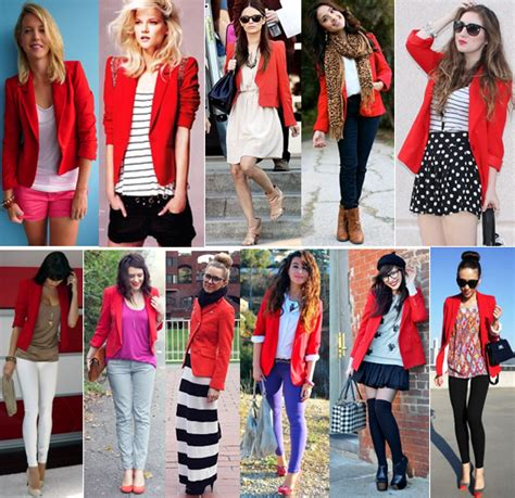 What Goes With Red What Can I Wear With A Red Blazer Fashion Ql
