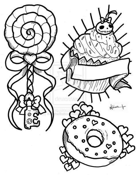 candy tattoo designs flash by inkerbelltattoo on deviantart