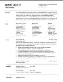 project manager resume examples construction 2 - Resume Template For Project Manager