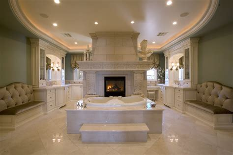 his and her bathroom master bath suite with his and her vanities and closets