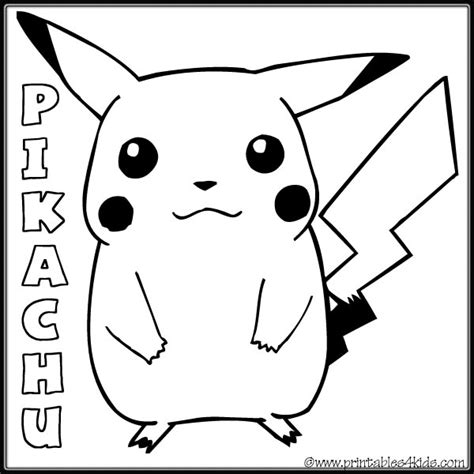 coloring pages of pokemon pikachu free coloring pages of and pikachu