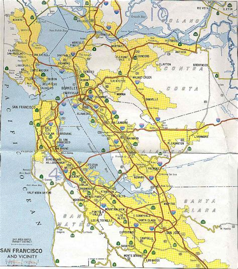 map of san francisco bay area california highways www cahighways org san francisco bay area freeway development part 2 the