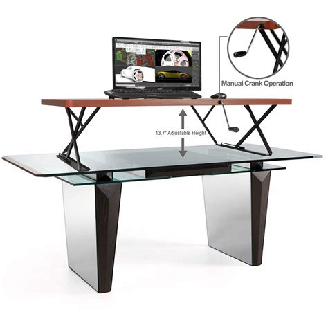 manual height adjustable desk amazon com halter manual adjustable height table top sit