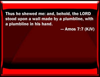 Plumb Line Bible Verse by Bible Verse Powerpoint Slides For Amos 7 7