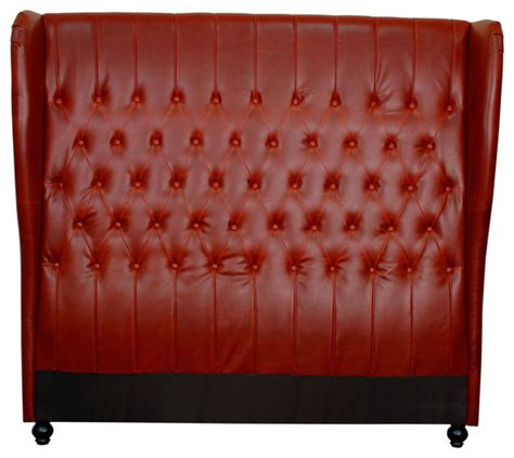 red headboard queen alice queen bonded leather wing headboard vintage red