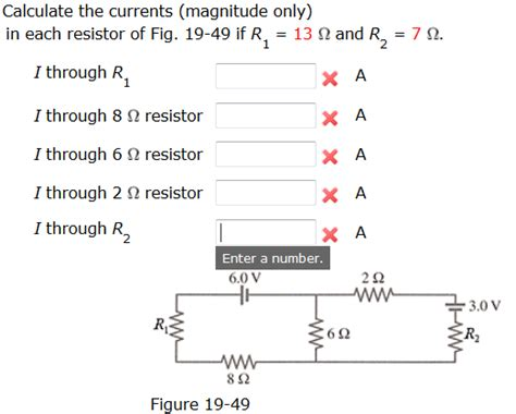 when the resistor r in fig 19 59 is calculate the currents magnitude only in each re chegg