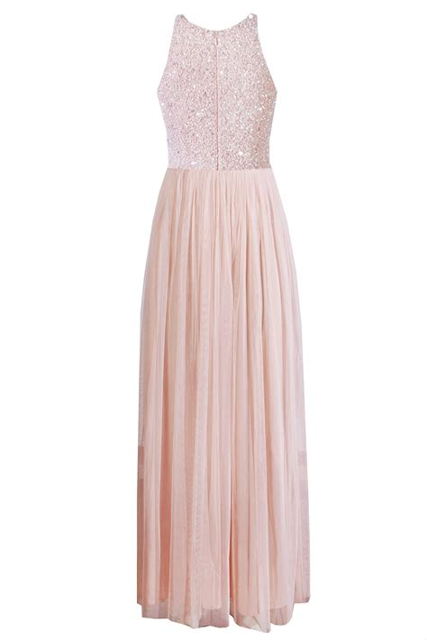 lace beads picasso pink embellished maxi dress party
