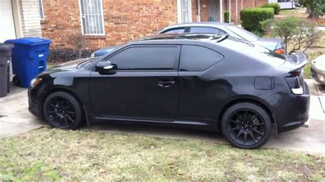 2013 scion tc black rims 2011 scion tc quot black mamba quot