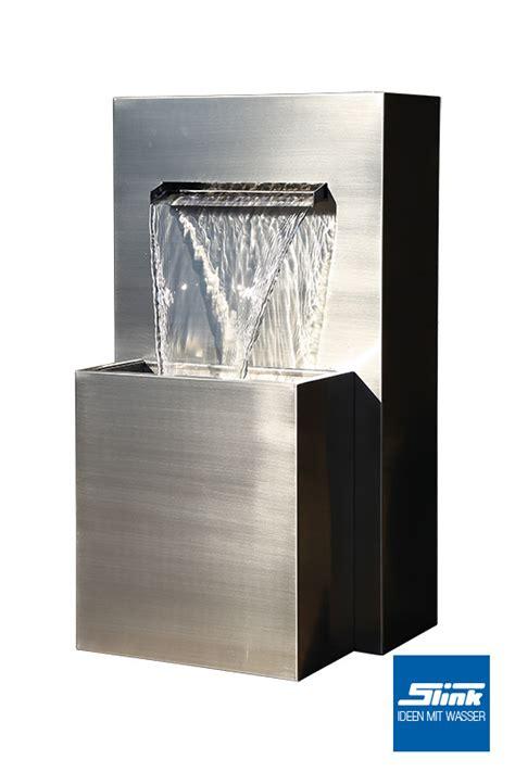 wandbrunnen modern edelstahl wasserfall wandbrunnen muro slink ideen mit