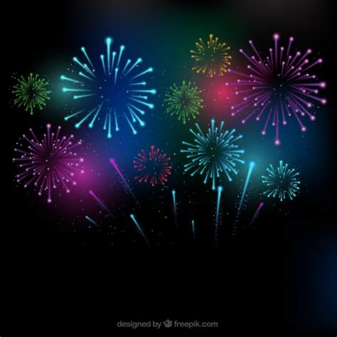 firework background colorful fireworks background vector free