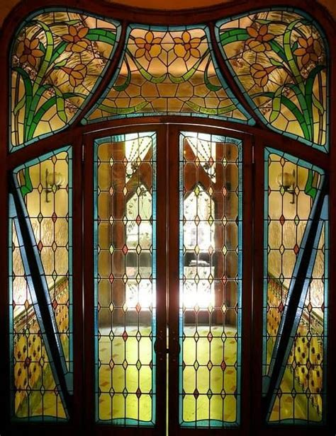 Stained Glass Windows For Doors Nouveau Stained Glass Door Nouveau Two