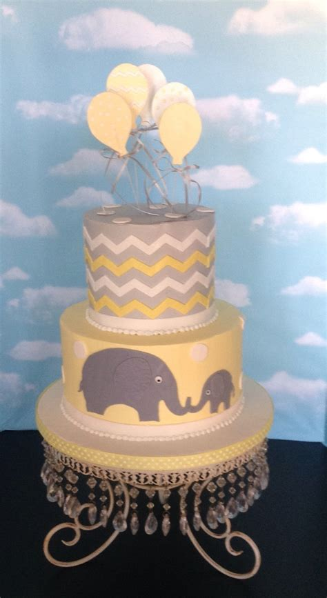 Yellow And Grey Baby Shower Cake by Yellow Grey Baby Shower Cake Cakecentral