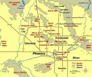 Phoenix Area Map by Interactive Map Of Phoenix Area Arizona Pinterest