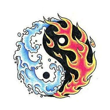 fire and ice tattoo and water sle ideas yin