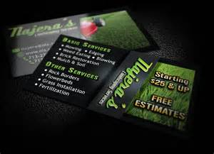 service business cards hyperdesign lawn service business cards