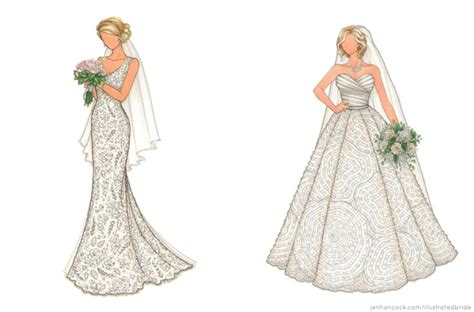 fashion illustration wedding dresses 10 custom bridal illustration keepsakes southbound