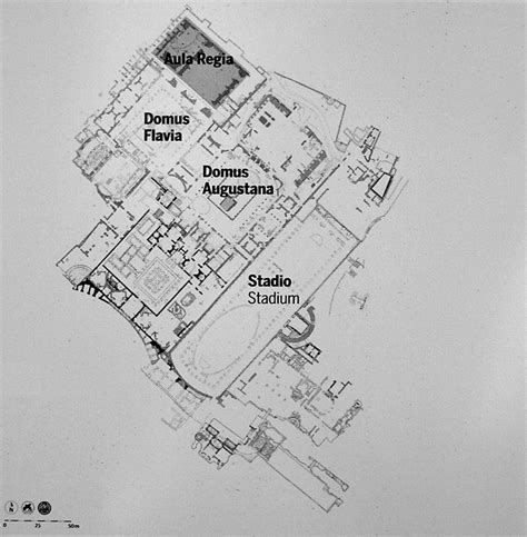 Unique House Plans Flavian Palace Rome Palatine