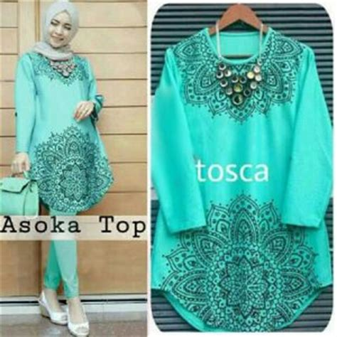 Blouse Tunik Panjang Wanita Terbaru Raflesia 7g5z baju atasan blouse muslim wanita modis terbaru murah