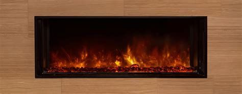 Landscape Fullview 40 In Built In Electric Fireplace Modern Flames Fireplaces