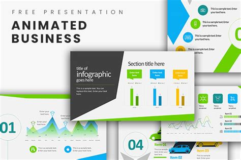 Animated Business Infographics Free Powerpoint Template Animated Business Powerpoint Templates Free