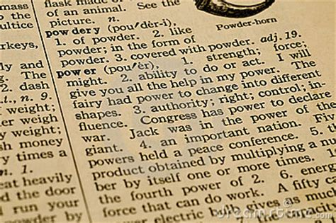 power definition royalty free stock image image 9451636