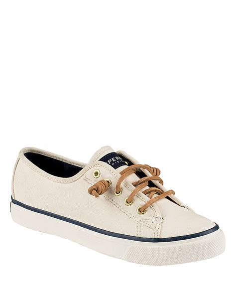 sperry sneakers sperry top sider seacoast canvas sneakers in white lyst