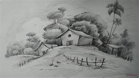 Landscape Drawing How To Draw Easy And Simple Landscape For Beginners With