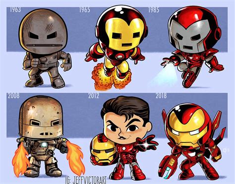 art jeff victor evolution iron man