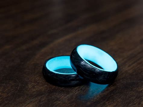 Wedding Rings That Glow by Carbon 6 Glow Rings Get It For Half Price Through Our