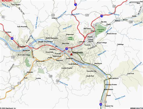 charleston wv map map of charleston wv