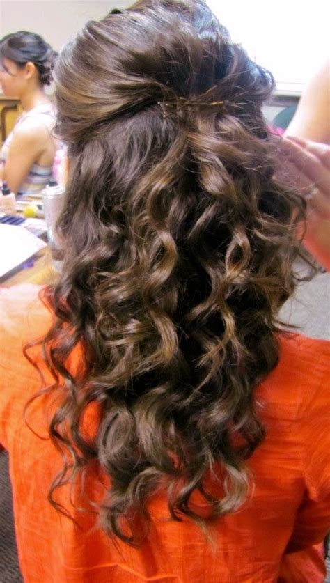 up hairdos back and front curly hair half up wedding hair coarse hair wedding