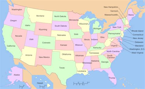 50 U S States And Territories list of states and territories of the united states