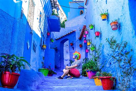 blue city morocco chair itinerary two weeks in morocco a ferry ride to spain