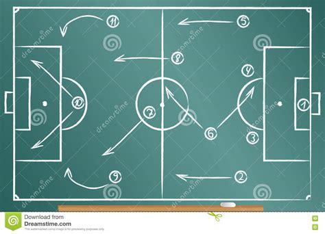 football tactics scheme cartoon vector cartoondealercom