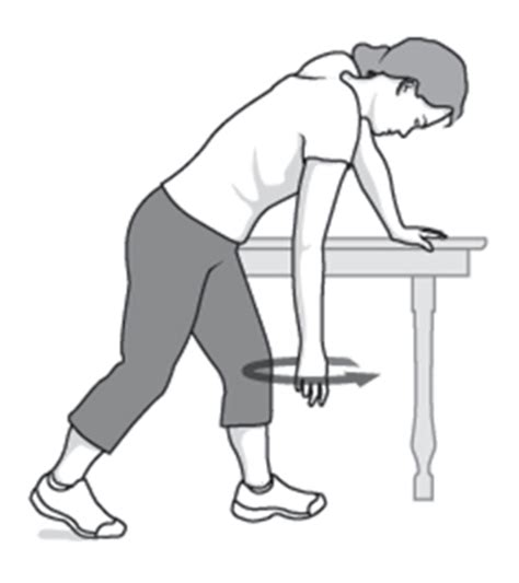 pendulum swings workout 7 stretching strengthening exercises for a frozen