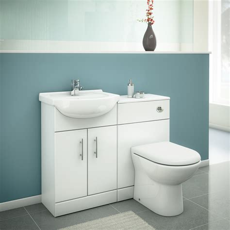 alaska high gloss white vanity unit cloakroom suite