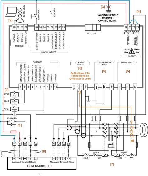 ats wiring diagram  standby generator  wiring diagram