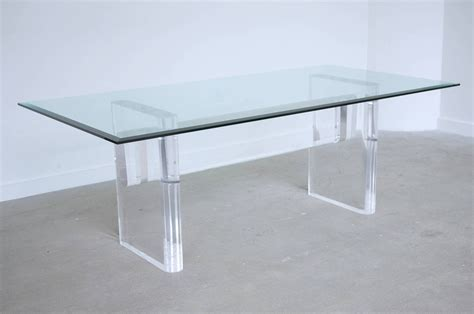 acrylic dining room table lucite and glass dining table by karl springer at 1stdibs