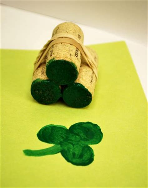 create a rubber st shamrock sting family crafts
