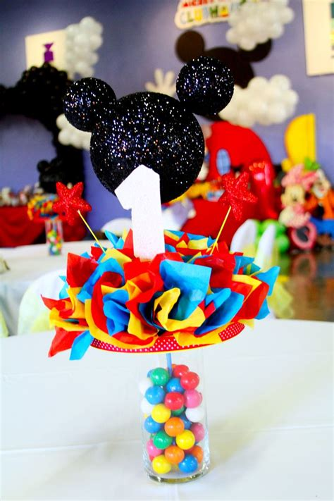 mickey mouse clubhouse centerpiece ideas mickey mouse club house centerpieces made by me