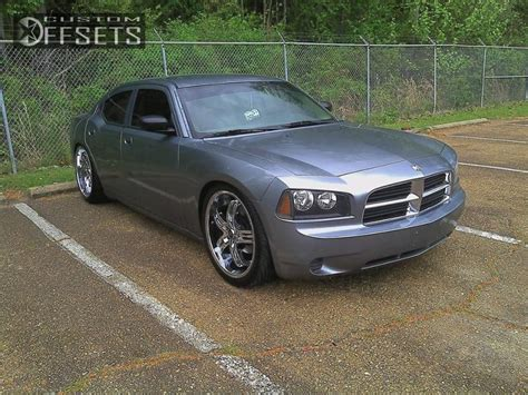 dropped dodge charger wheel offset 2007 dodge charger nearly flush dropped 1 3